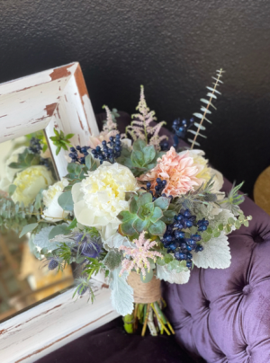 Succulent and Navy  in Stephenville, TX | University Flowers & More