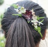 Succulent Barrette Hairpiece