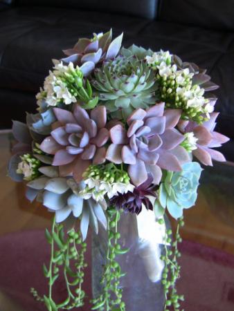 succulent beauty wedding bouquet