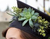 SUCCULENT CAP PIECE 1 GRADUATION CAP/HEADPIECE