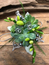 Sunny Succulent Corsage
