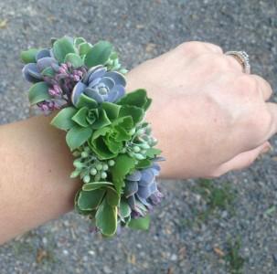 Succulent Cuff Wrist Corsage