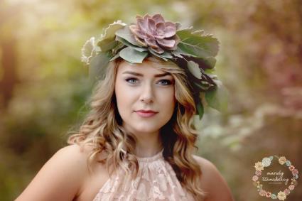 Succulent Floral Crown
