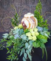 Succulent Garden Urn Wreath