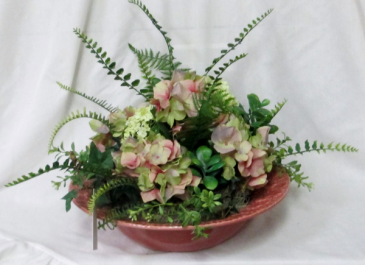 Succulent Hydrangeas - Silk Arrangement