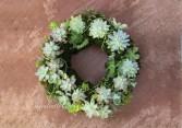 Succulent Spring Wreath Succulent Arrangement