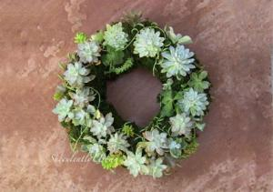 Succulent Spring Wreath Succulent Arrangement in Burbank, CA | MY BELLA FLOWER