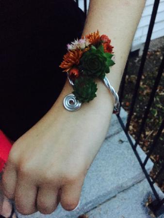 Succulent Success Wrist Corsage