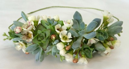 Succulent Wedding Crown