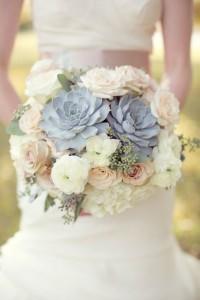 Succulents In Our Midst  Bridal Bouquet