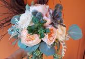 Succulents & Garden roses Bouquet
