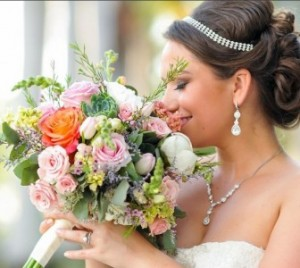 Succulents, Roses & More Bridal Bouquet in Sebastian, FL | PINK PELICAN FLORIST