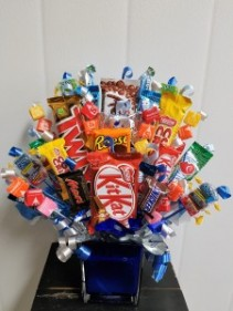 Candy-Sugar Rush We require 1 day notice on all candy bouquets