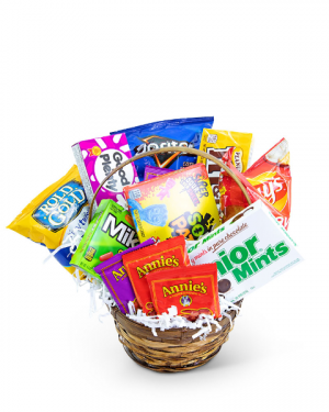 Sugar Rush Basket Gift Basket in Nevada, IA | Flower Bed