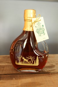 SugarTowne Maple Syrup Decorative Glass Bottle with Deer 8.45 oz