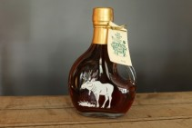 SugarTowne Maple Syrup Decorative Glass Bottle with Moose 8.45 oz