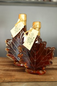 SugarTowne Maple Syrup Maple Leaf Container Medium and Large
