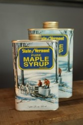 SugarTowne Maple Syrup Vintage-style Tin Container Pint and Quart
