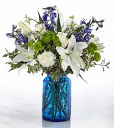 Summer at the Beach Textured blue vase