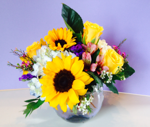 Bold Blossoms Bubble Bowl in Powell, OH | MILANO FLORIST