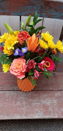 Summer Color Burst  Vase Arrangement