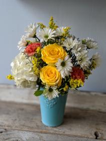 Summer Colors for Mom Fresh Floral Arrangement