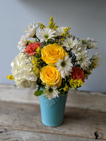 Summer Colors for Mom Fresh Floral Arrangement