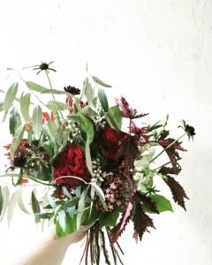 Crimson Handtied Bouquet in Toronto, ON | BOTANY FLORAL STUDIO