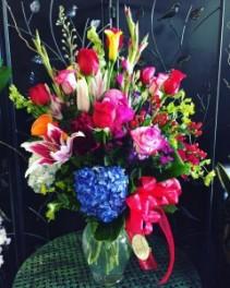 Colorful spring mix bouquet