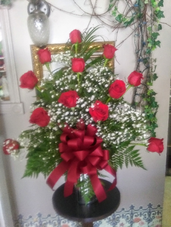 Summer Dozen Roses Special One sided, choice of colors