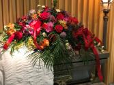 Summer Elegance Casket Flowers