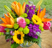 Summer Embrace Mixed Vase Arrangement