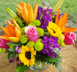 Summer Embrace Mixed Vase Arrangement in Jarrell, TX | Awesome Blossoms Florist