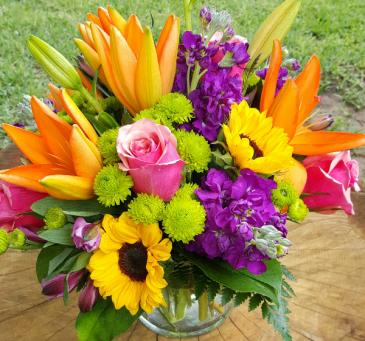 Summer Embrace Mixed Vase Arrangement