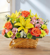 Summer fields of europe Basket Arrangement