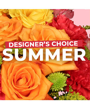 Summer Flowers Designer's Choice in Washburn, ND | JAVA ROSE FLORAL & CAPPUCCINO