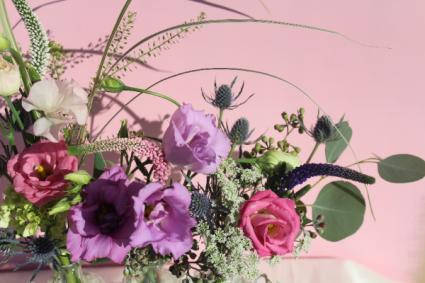 Summer Fun in purples / pinks Vase Arrangement