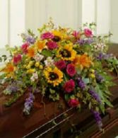 summer garden casket spray sympathy