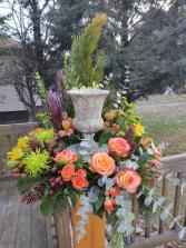 Summer Garden  Memorial Urn arrangement
