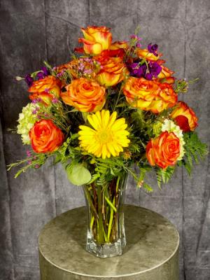 Summer Harvest Vase Arrangement in Summerville, SC | The Tilted Tulip