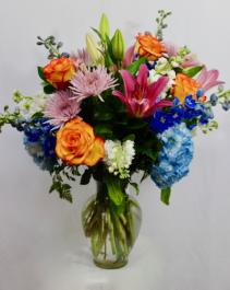 Summer Mix Bouquet Vase arrangement.
