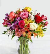 Summer Mix Vase of the freshest ,bright summer flowers