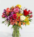 Mixed roses and mixed alstrameria  Vase of the freshest ,bright summer flowers