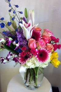 Bright floral  mixed  bouquet