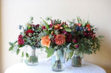 Summer Mixed Bridesmaids Bouquets