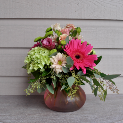 Summer Pink Vase Arrangement