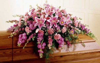 Summer Pinks Casket Spray