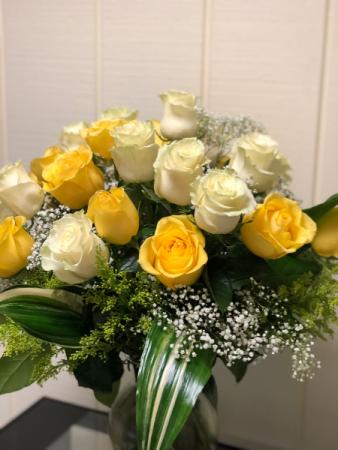 Summer Rose Arrangement Vase