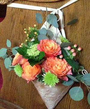 Summer Roses Pew Hanger in Port Stanley, ON | Flowers By Rosita