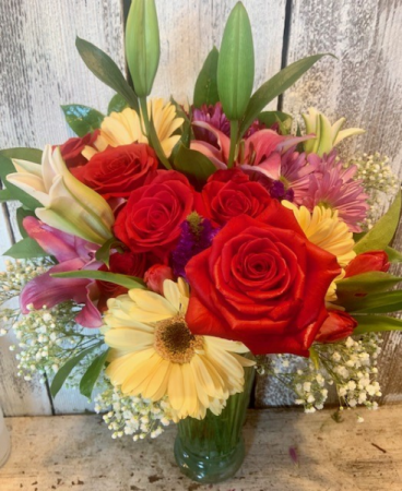 Summer Seasonal roses,tulips,gerbers